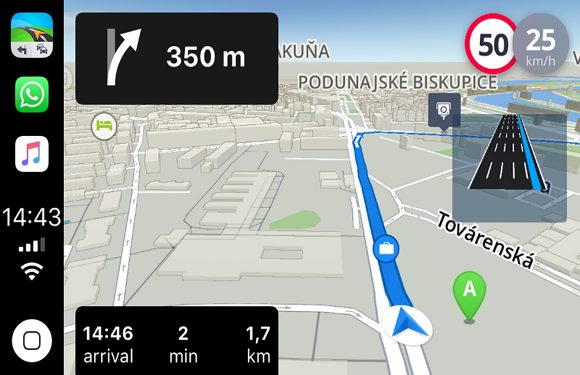 carplay navigatie app