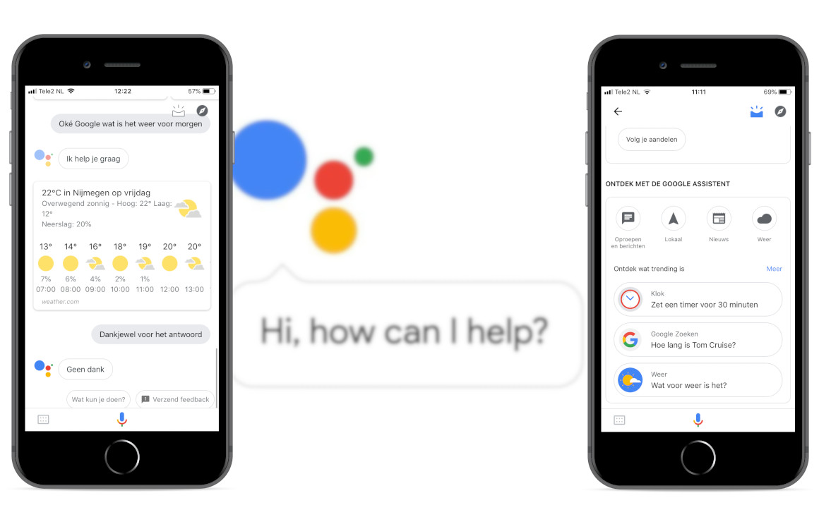 Google Assistent op iOS