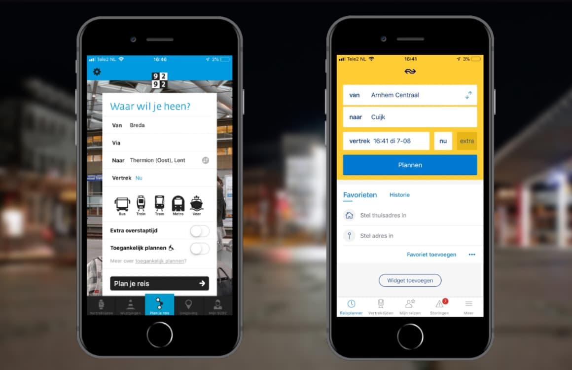 NS Reisplanner versus 9292 OV: de populairste ov-apps vergeleken
