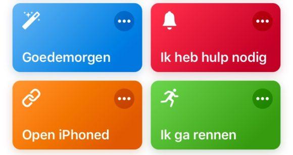 siri shortcuts voorbeelden