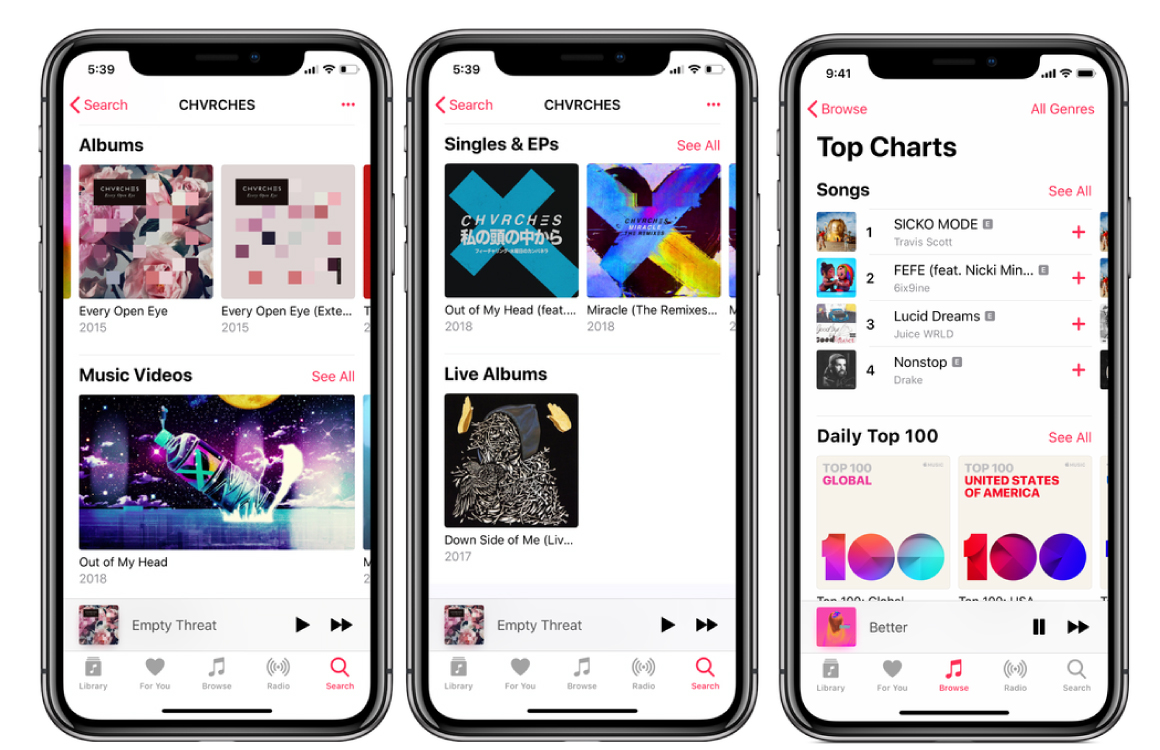 Apple-Music-overzicht