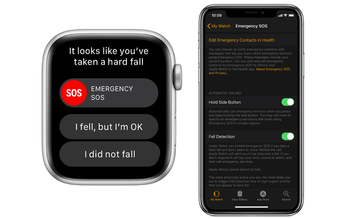 Apple Watch valdetectie