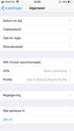 iOS beta verlaten