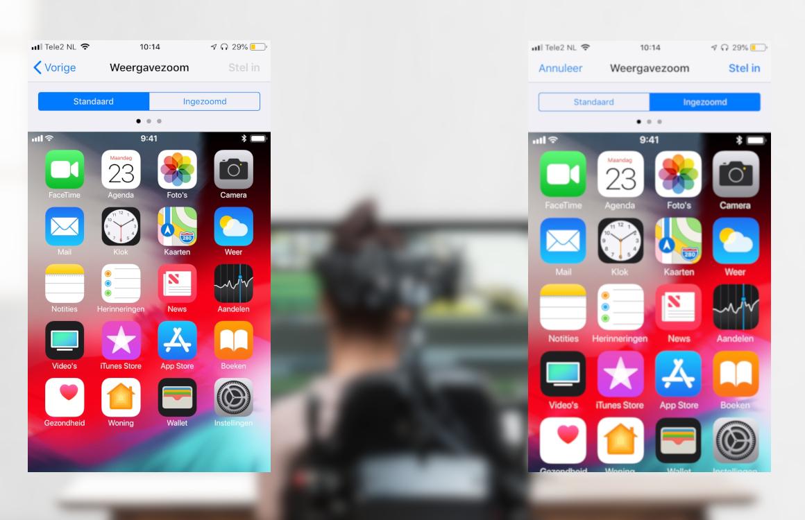 Toegankelijkheidsfunctie Display Zoom keert terug op iPhone XS Max