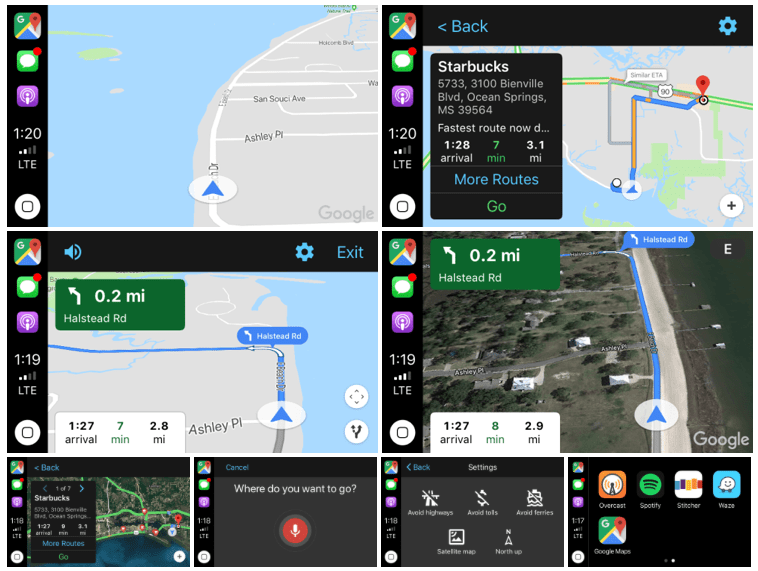 Google Maps carplay