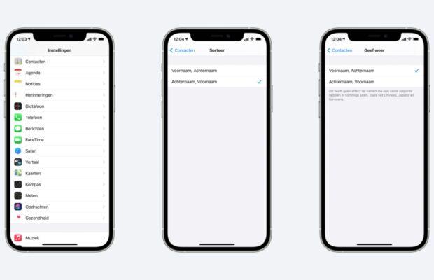 iPhone contacten opschonen