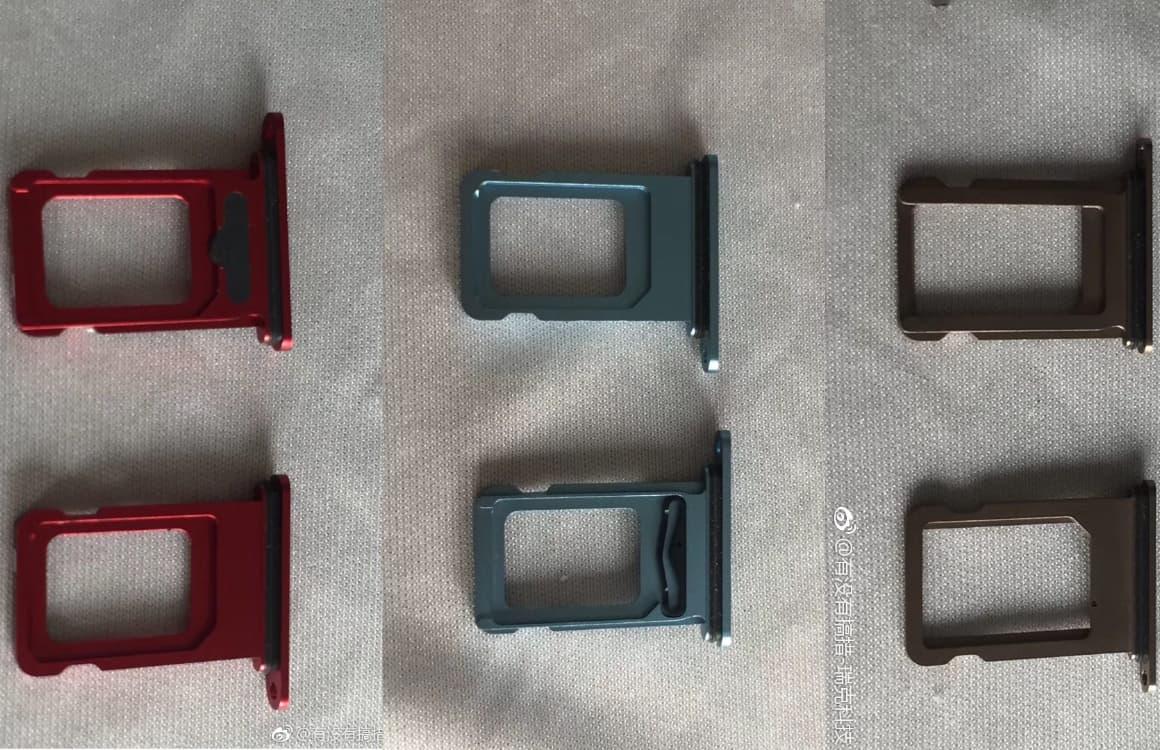 'iPhone XR verschijnt in vijf kleuren: foto's van simkaartsslot uitgelekt'