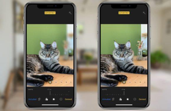 Het diepte-effect van een iPhone XS Portretfoto aanpassen: zo doe je dat