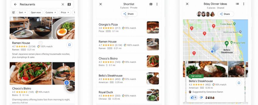 Google Maps pollfunctie