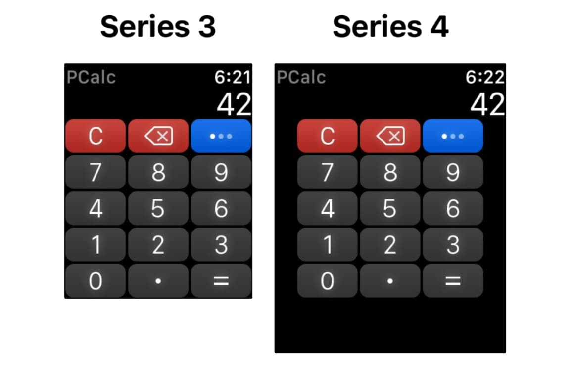 Apple Watch Series 4 resolutie