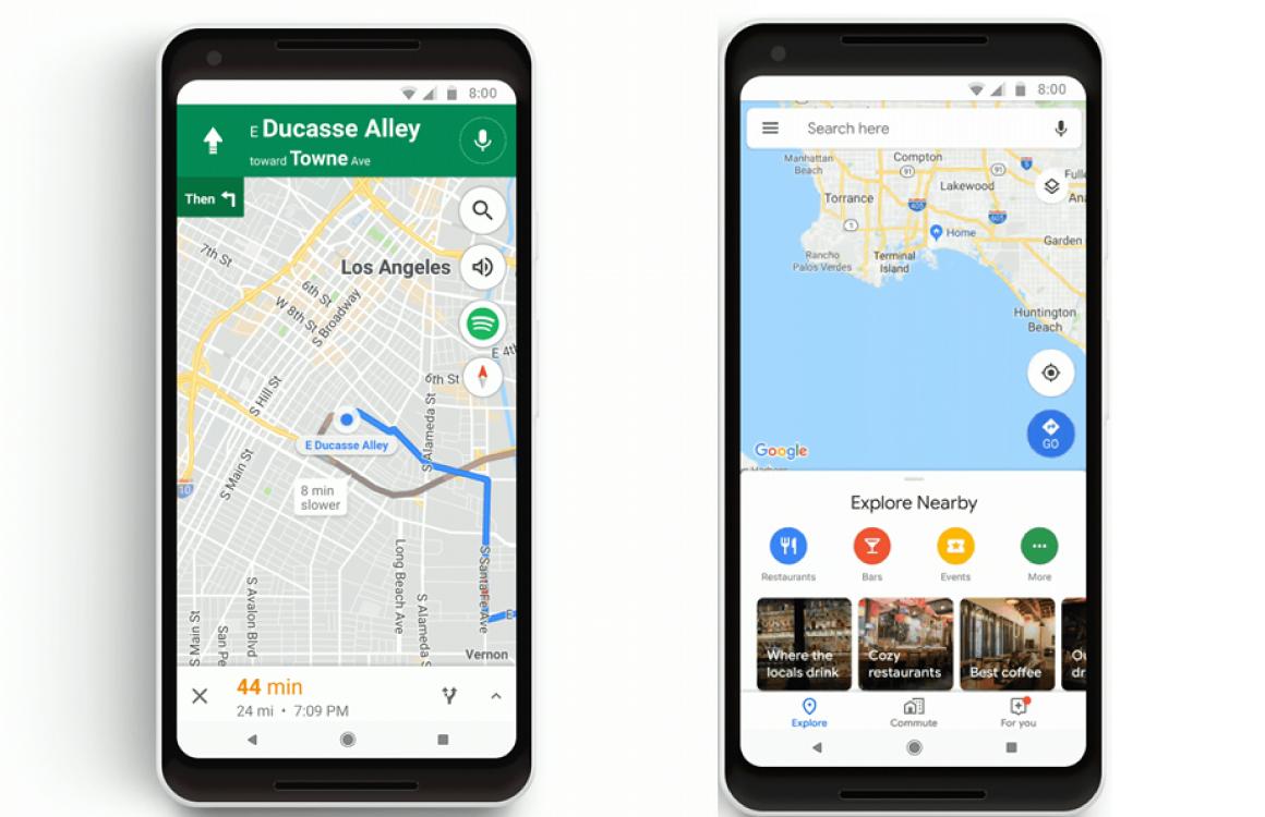Google Maps reizen