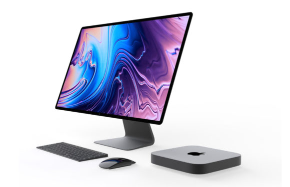 'Zo ziet de Mac mini (2018) eruit inclusief Magic Keyboard met Touch Bar'