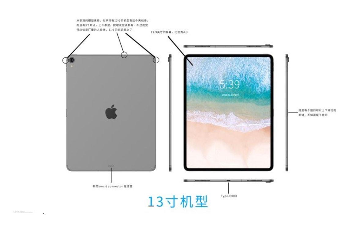 'iPad Pro 2018 wordt kleiner en dunner, zonder koptelefoonaansluiting'