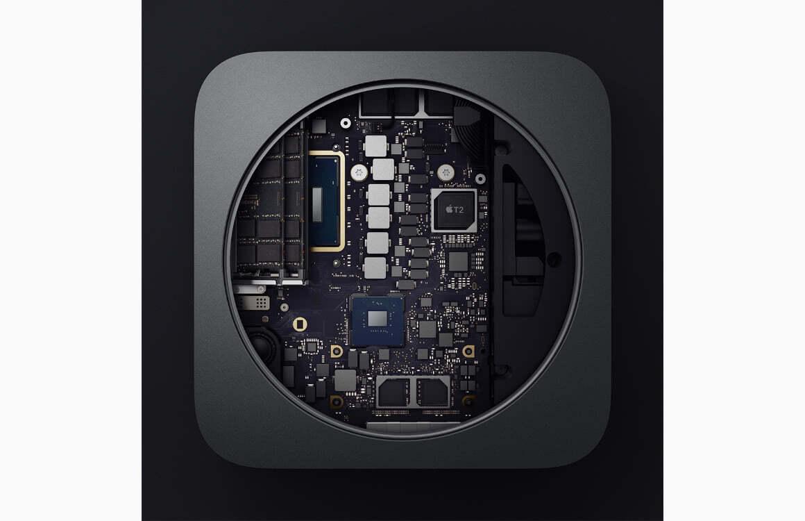 Mac mini binnenkant