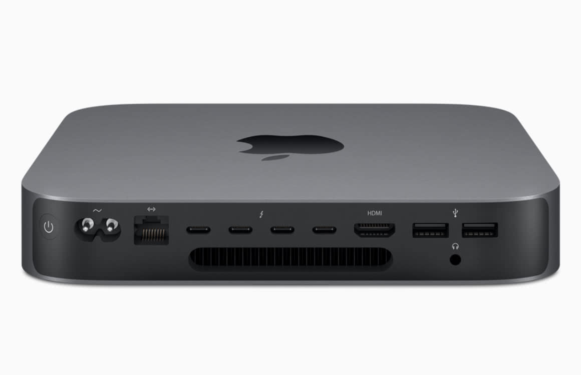 Mac mini aansluitingen