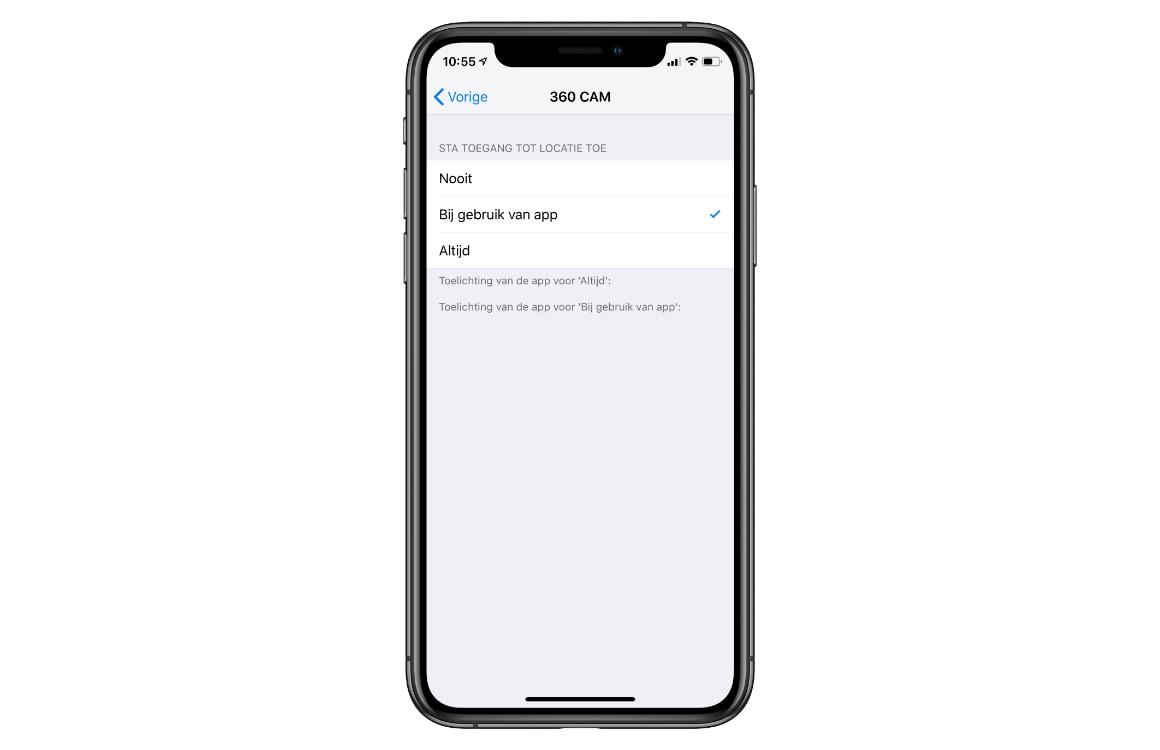 iPhone locatievoorzieningen