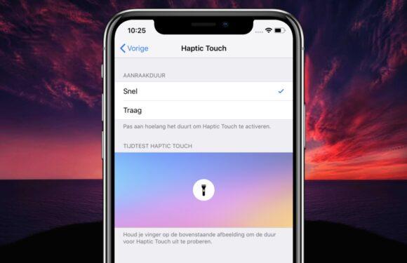 iPhone XR-tip: zo laat je Haptic Touch sneller of langzamer werken