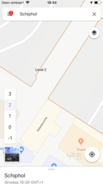 Google Maps Schiphol navigatie (1)