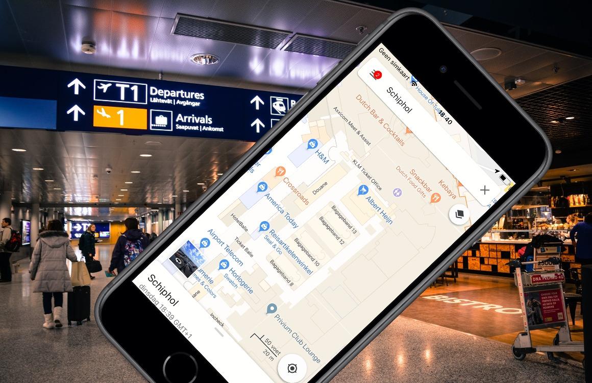 Google Maps Schiphol navigeren