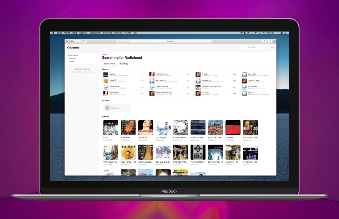 Musish: de beste Apple Music-webspeler tot Apple er zelf een maakt