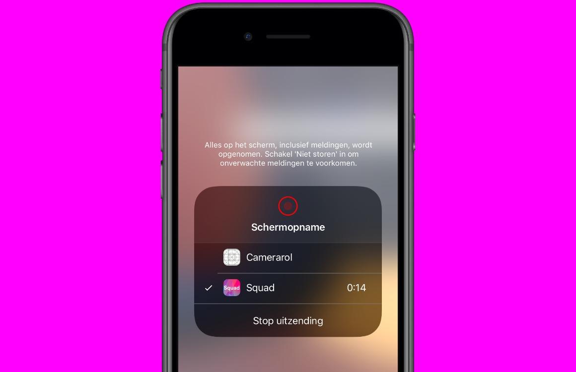 Met Squad kijken vrienden op je iPhone-scherm mee