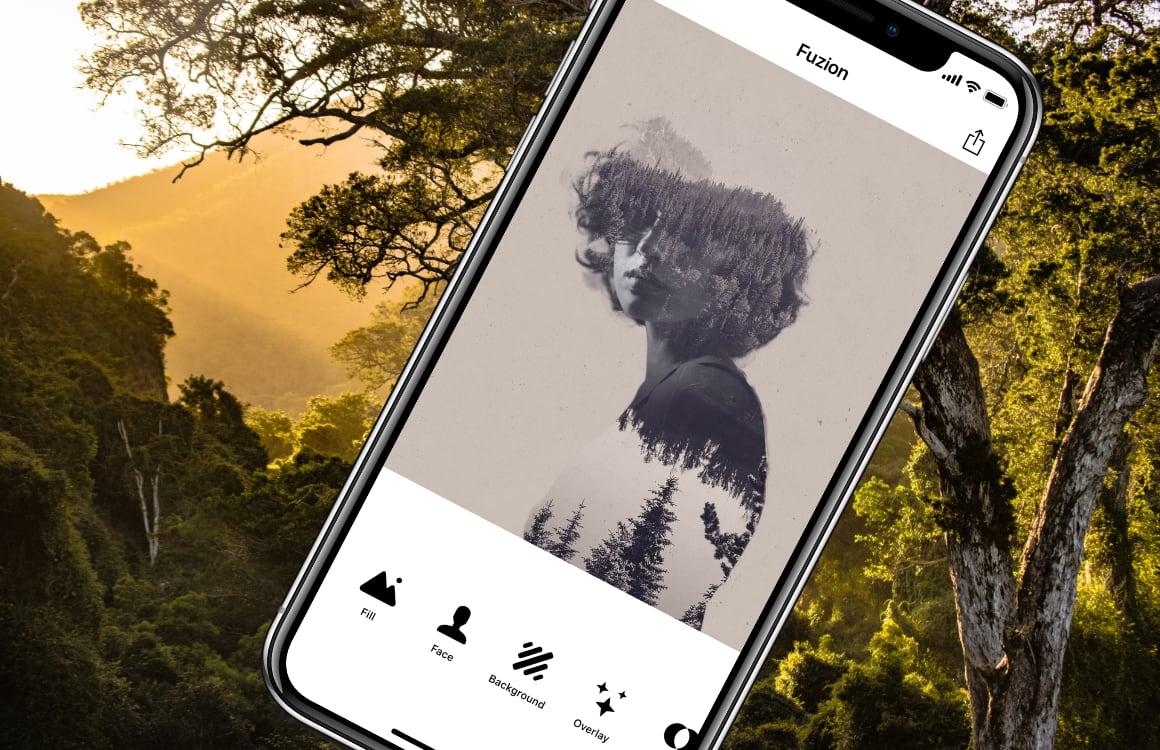 Fotobewerker Fuzion laat je kunst maken van selfies en portretfoto's