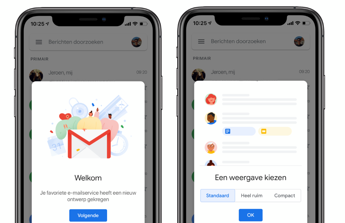 Gmail Material ontwerp