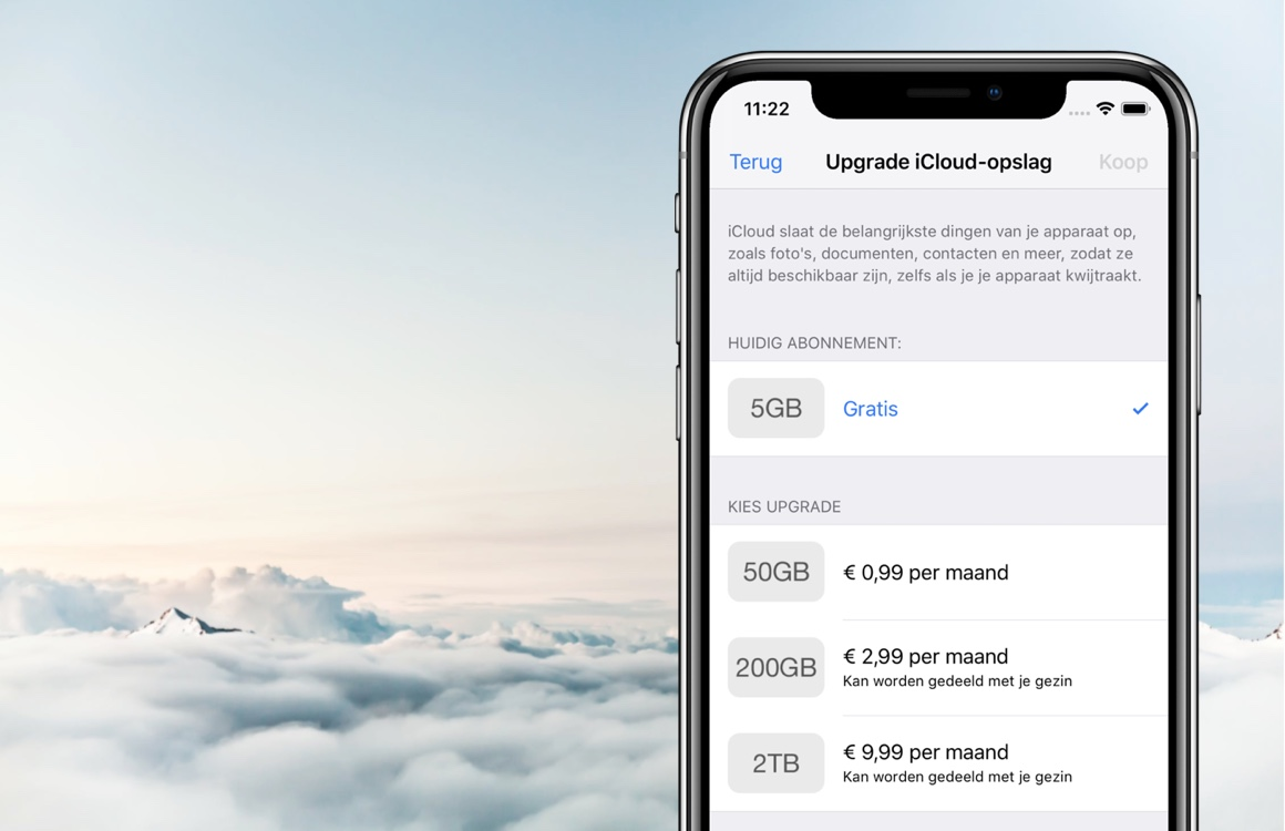 Beginnerstip: hoeveel iCloud-opslag heb ik nodig?