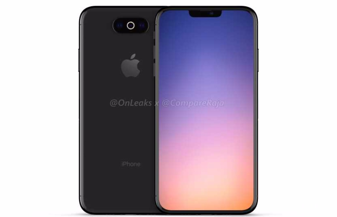 iPhone 2019 render horizontale driedubbele camera 2