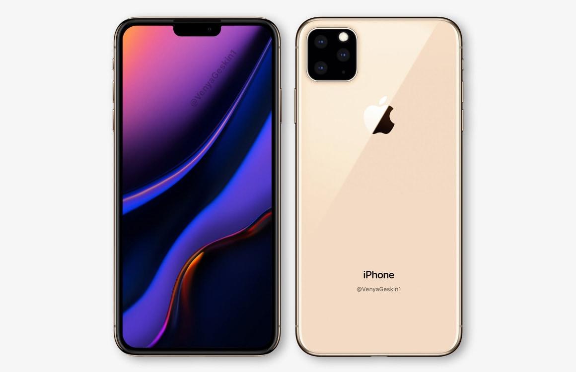 'Dit is de iPhone 2019 met driedubbele camera op de achterkant'