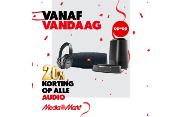 Deals: 20% korting op alle audioproducten van MediaMarkt