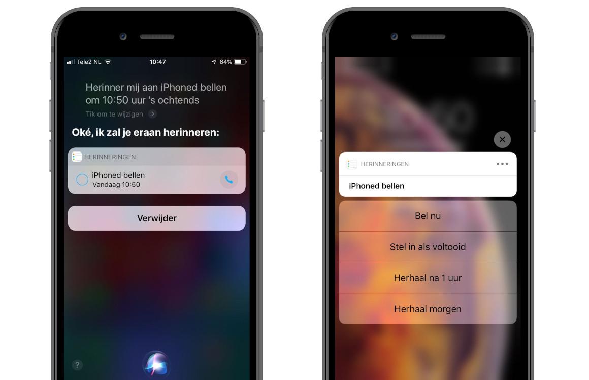 Tip: vergeet nooit meer iemand te bellen dankzij Siri bel-herinneringen
