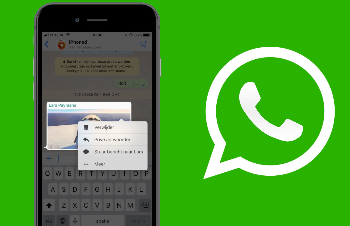 WhatsApp voegt privé antwoorden voor groepsgesprekken toe: zo werkt het