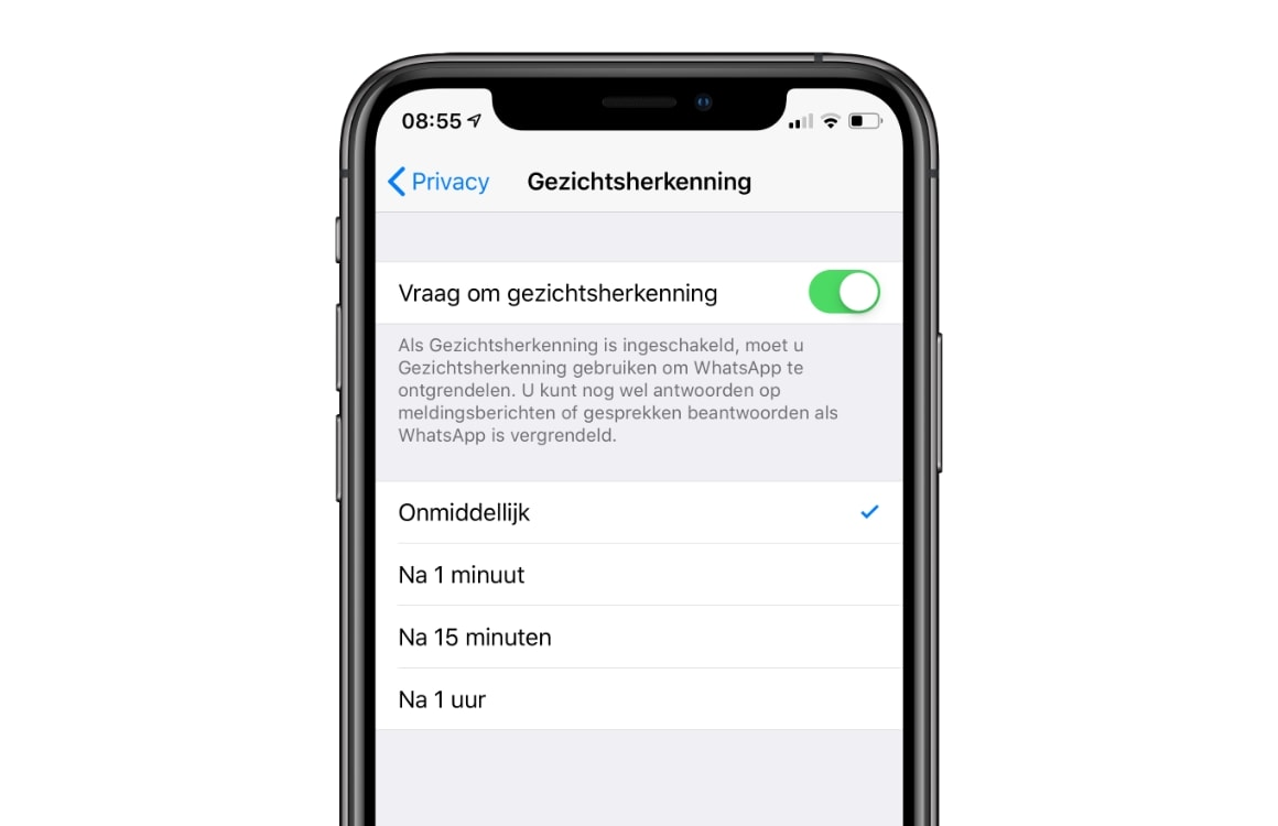 WhatsApp Touch ID Face ID