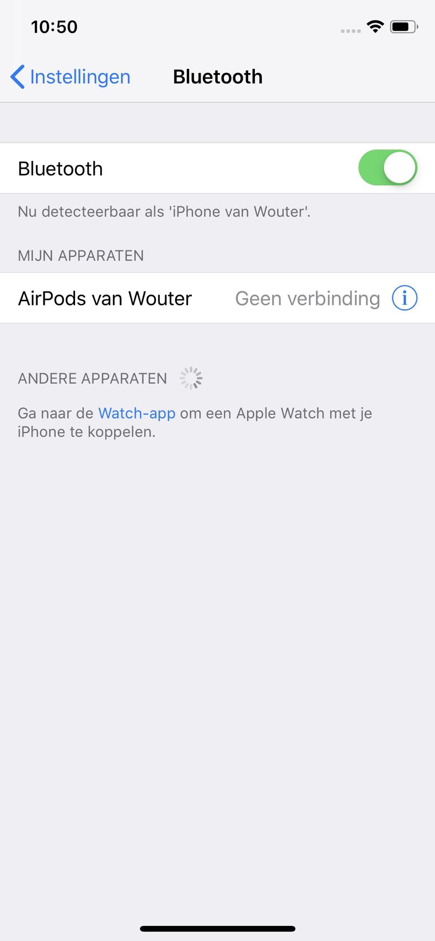 een airpod werkt niet