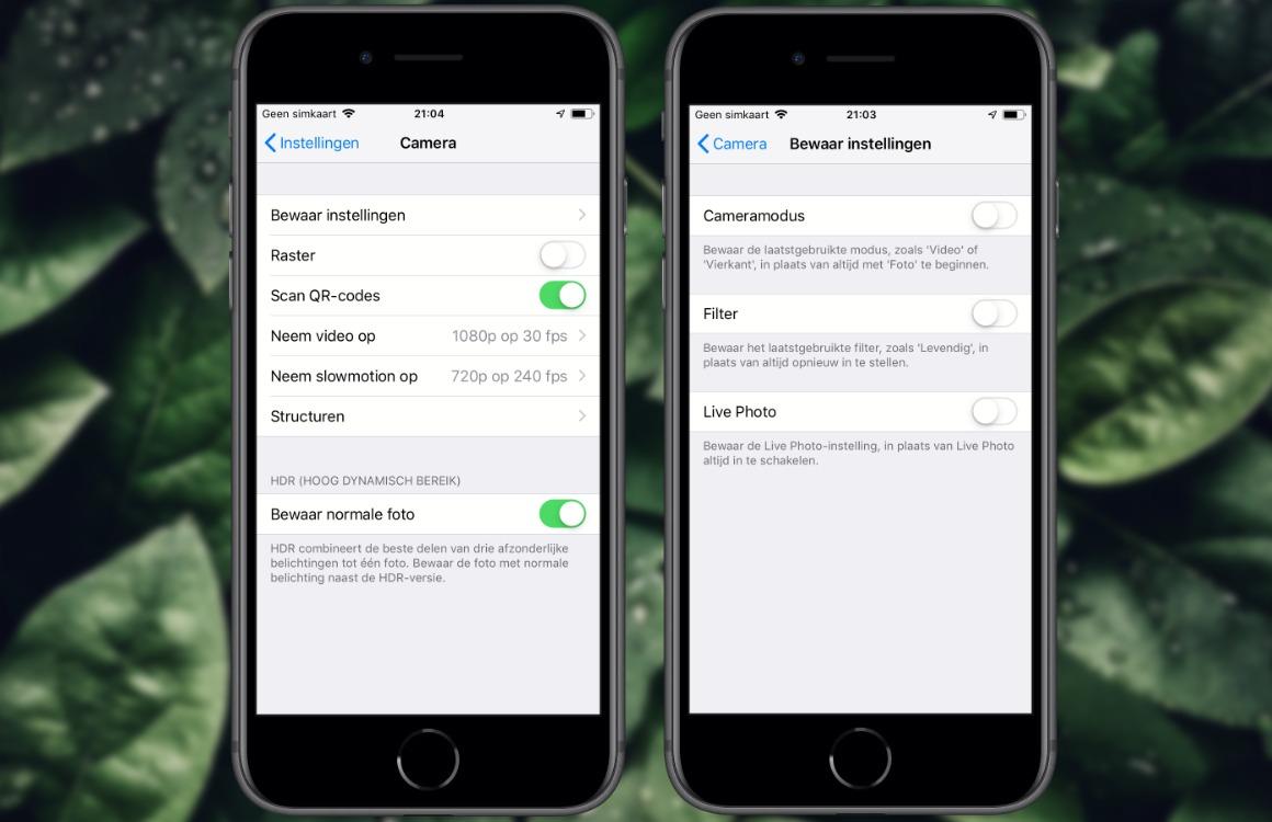 Live Photos uitschakelen iPhone iPad 2