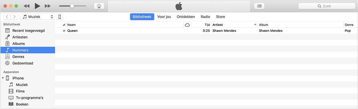Muziek overzetten naar iPhone