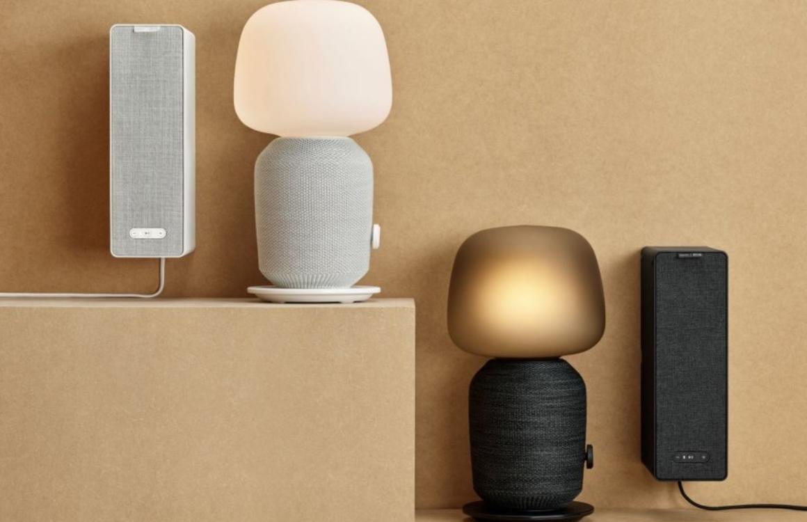De Sonos-speakers van IKEA zijn ook een tafellamp of boekenplank