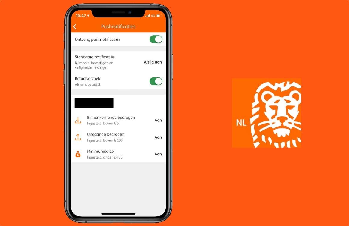 ING-app waarschuwt je voortaan voor bij- en afschrijvingen