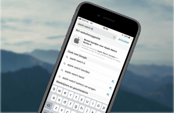 Tip: met dit icoontje in iOS 12.2 kun je in Safari sneller zoeken