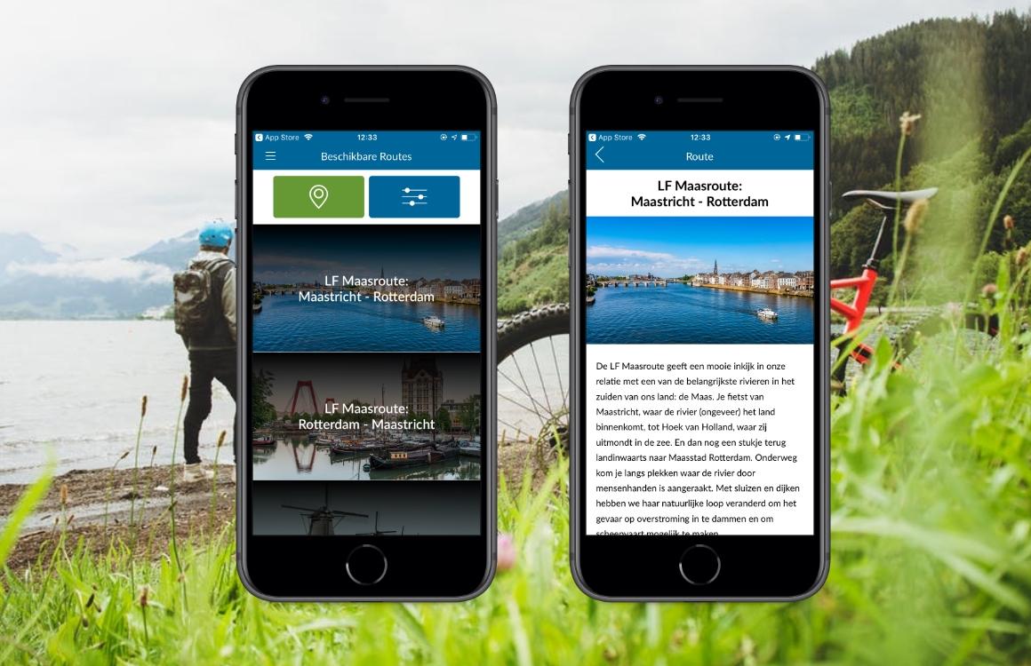 Fietsroute-app LF-routes