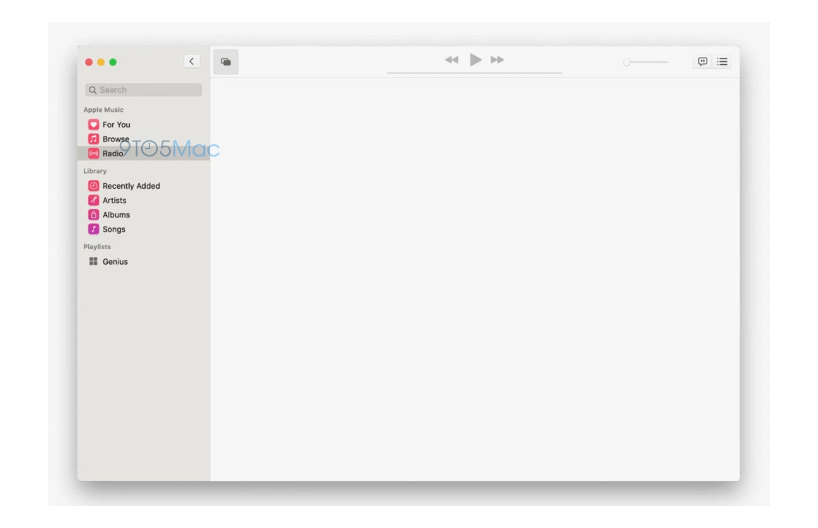 macos 10.15 screenshots Muziek-app