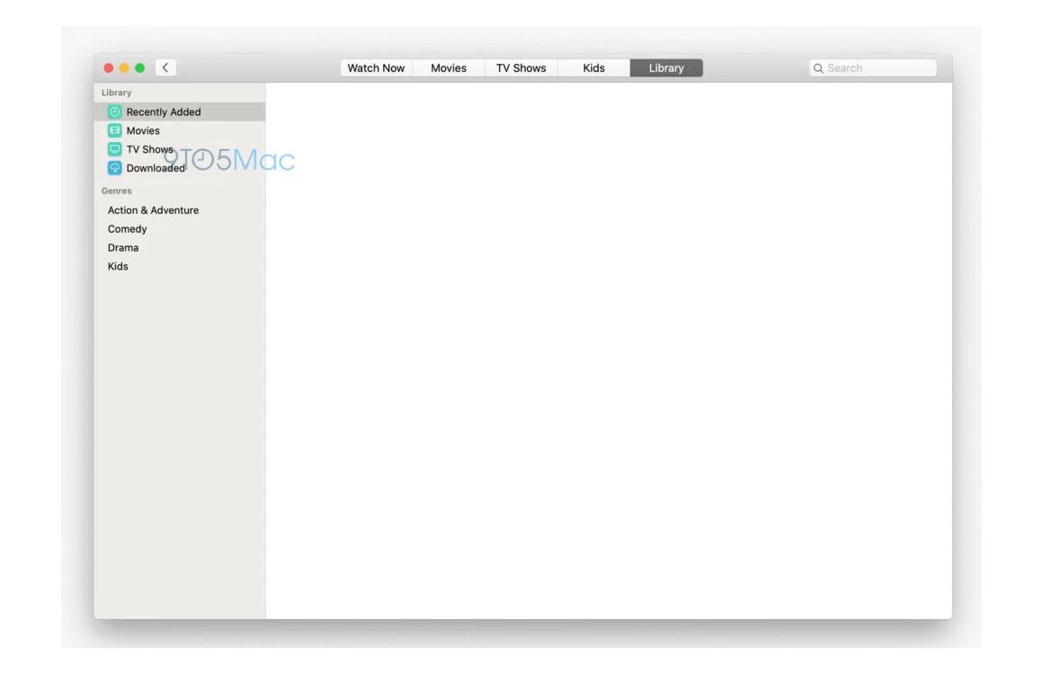macos 10.15 screenshots TV-app