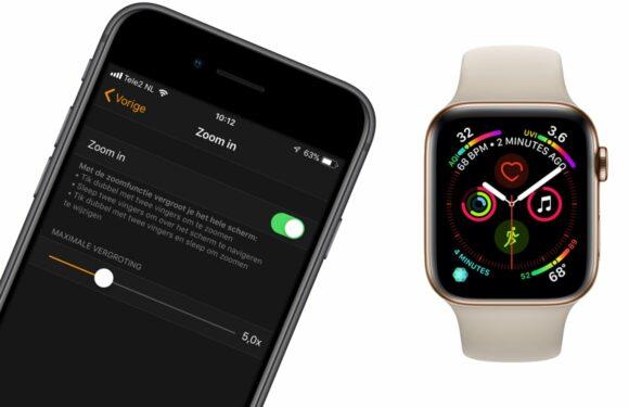Tip: zo kun je het beeld op je Apple Watch inzoomen