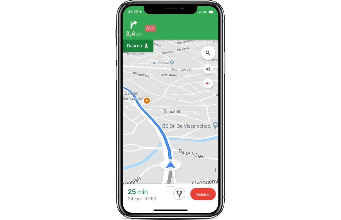 Google Maps flitser-waarschuwingen