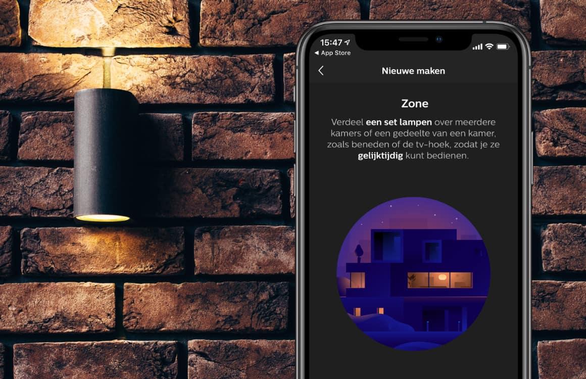 Philips Hue-lampen bedien je voortaan nog gemakkelijker met Zones
