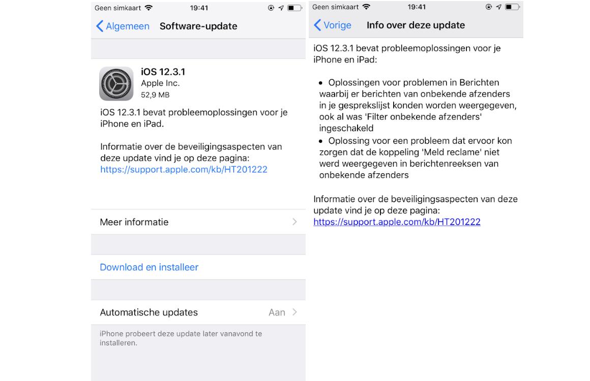 iOS 12.3.1 downloaden