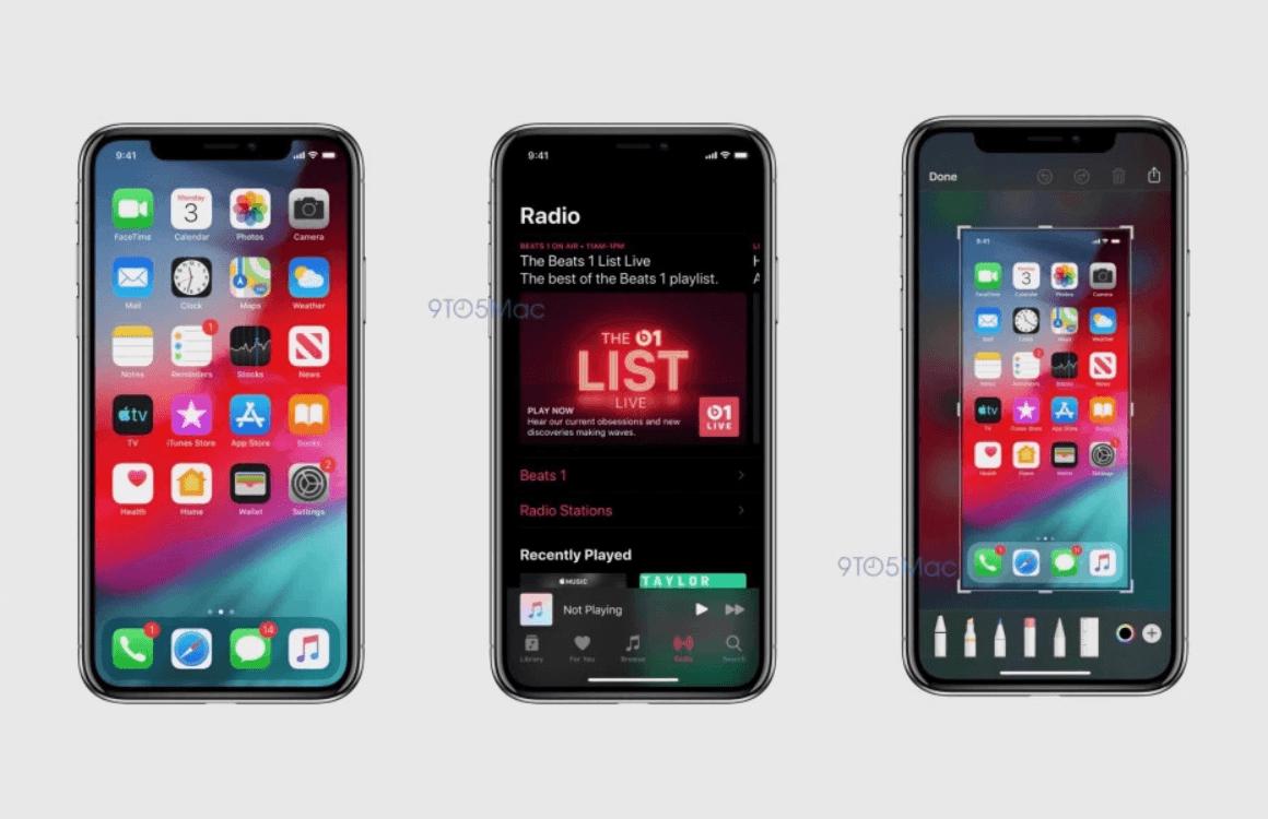 iOS 13 screenshots donkere modus 2
