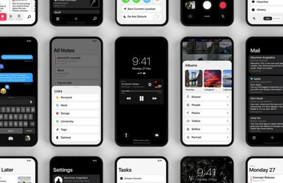 Slim iOS 13-concept maakt grote schermen beter bedienbaar