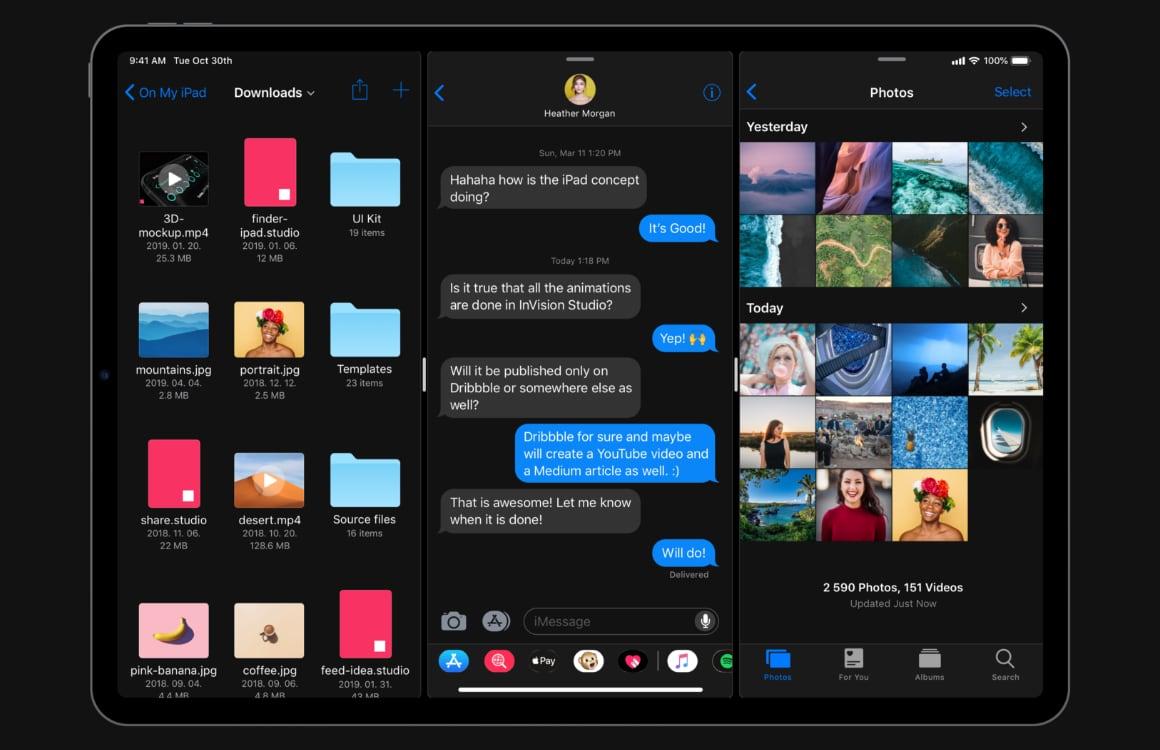 iOS 13 iPad concept